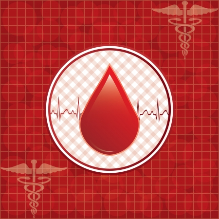 Blood donation background. Stock Vector - 18218610