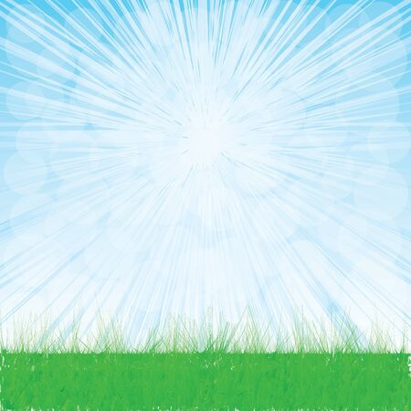 Summer landscape whit grass.vector Stock Vector - 18218756