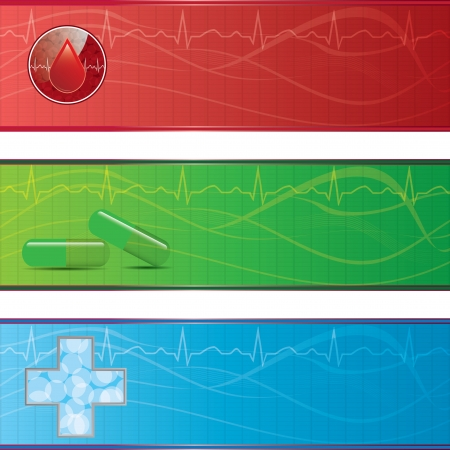 Set of medical banners.vector.eps 10 Vector