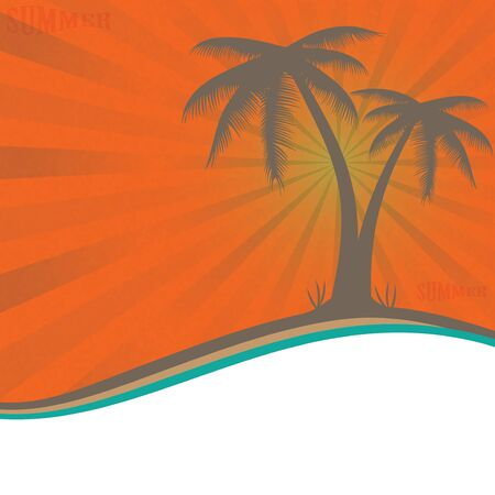 Summer holiday whit palm trees.vector Stock Vector - 18577472