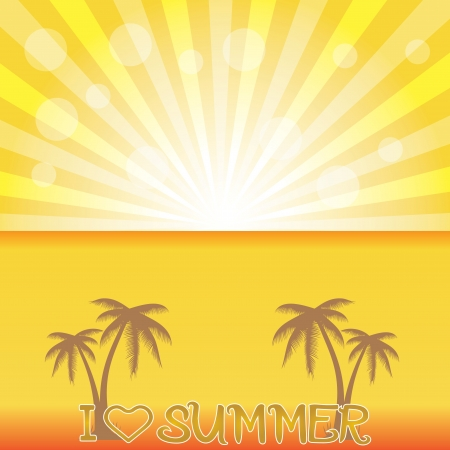 Summer holiday whit palm trees.vector Stock Vector - 18577486