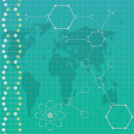 Atom path around earth  vector Stock Vector - 19290523