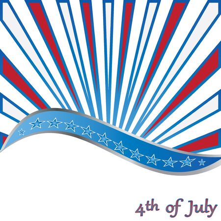 4 th of july background  vector Stock Vector - 19290431