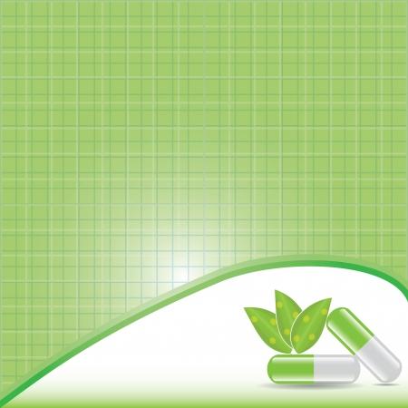 Green alternative medication concept vector
