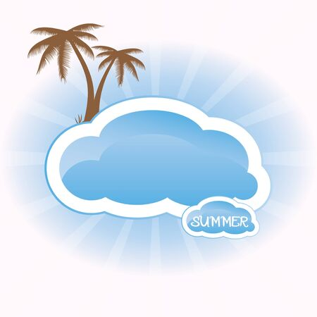 Summer concept whit palm tree vector Stock Vector - 19290428