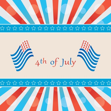4 th of july background .vector Stock Vector - 19859210