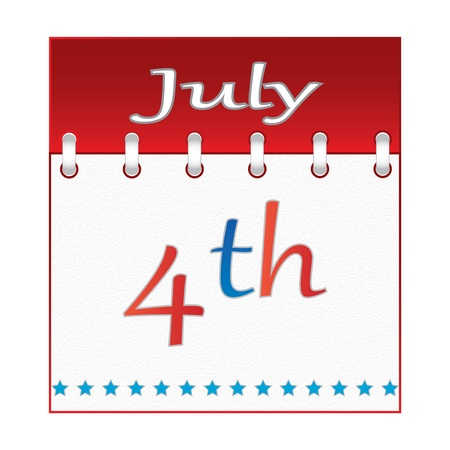 4 th of july calendar.vector Stock Vector - 19859266