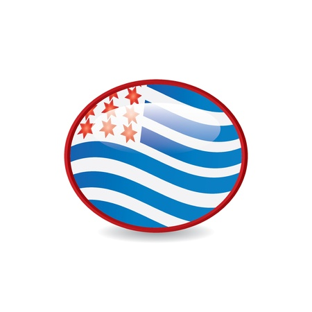 4 th of july button.vector Stock Vector - 19859193