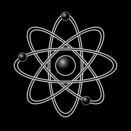 Atom part on black background Stock Vector - 20458834