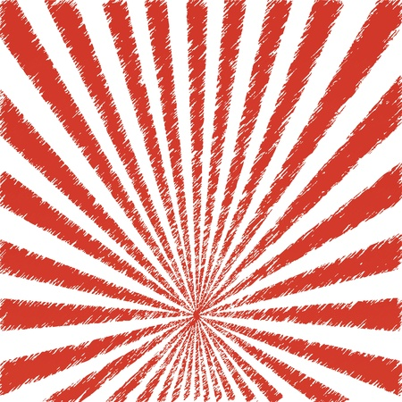 Vector abstract background of red star burst Illustration