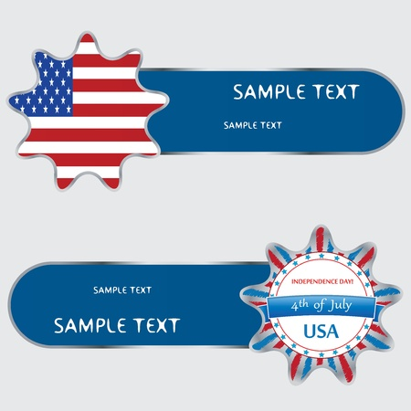 USA independence day banner design set Vector