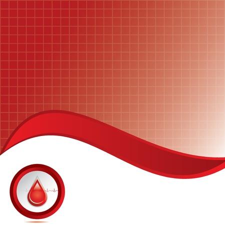 bleed: Blood donation background Illustration