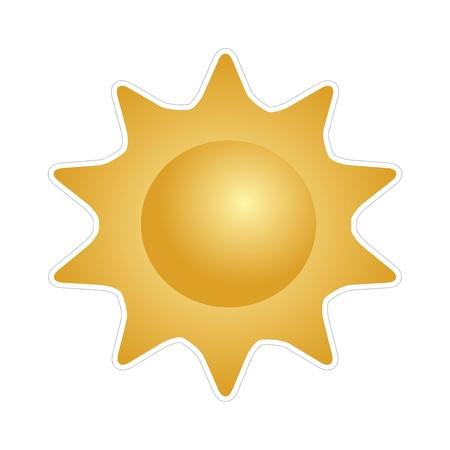 Big shining summer sun Stock Vector - 20458817