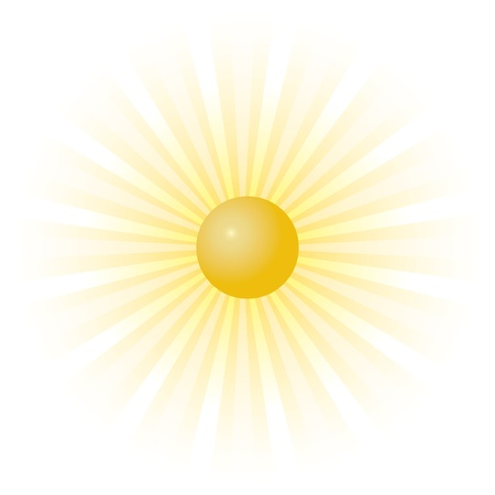 Orange sunburst summer
