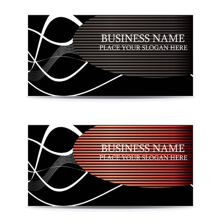 abstract creative business cards (set template) Stock Illustratie