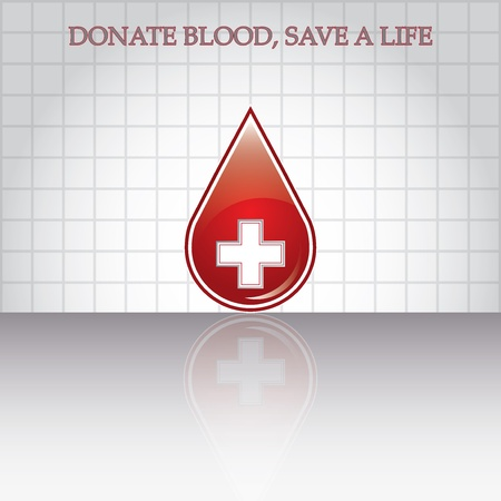 Blood donation .Medical background  Illustration