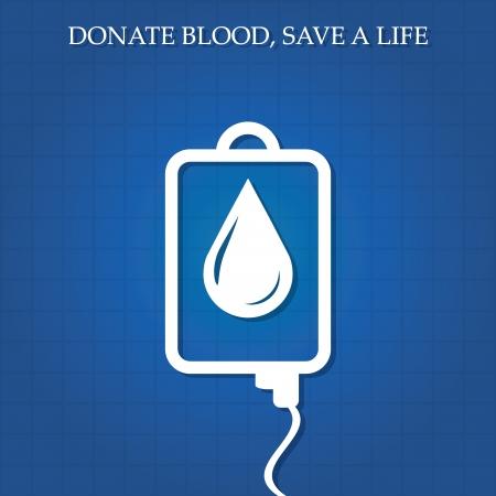 blood bag: Vector illustration of blood donation concept.vector Illustration