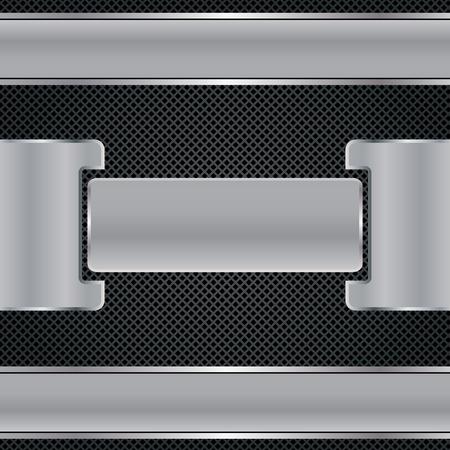 Abstracte achtergrond, metaalbrochure, vector Stock Illustratie