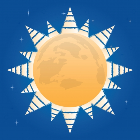 Winter planet whit trees.vector Vector