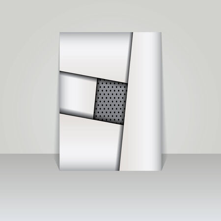 Brochure card banner metal-vector Illustration