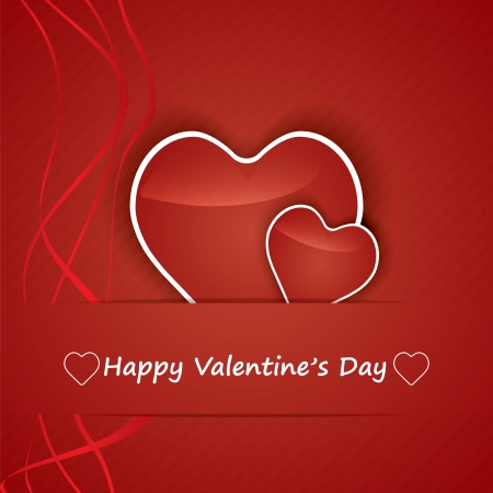 Valentine Day Card whit Hearts.vector