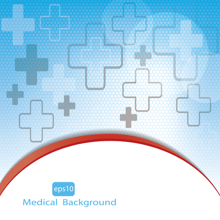 medical emblem: Medical background .vector