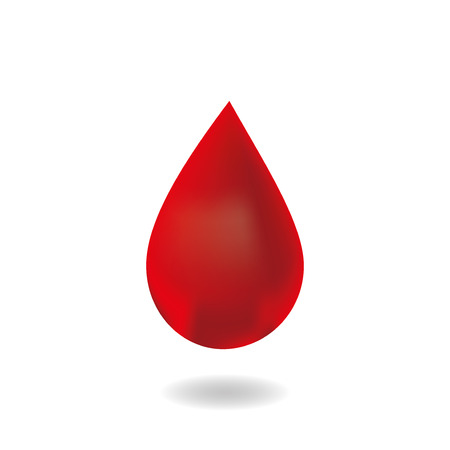 dripping: Drop of blood.vector