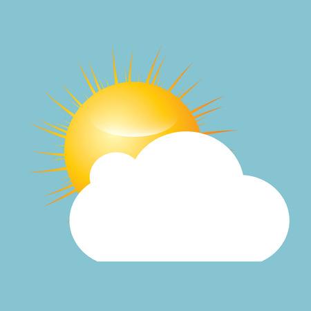Sun with cloud vector  Vector