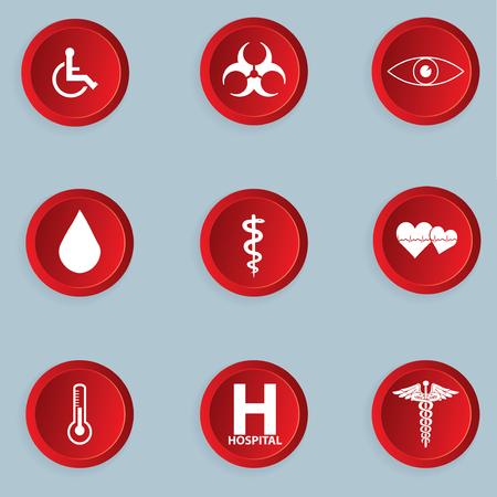 button set: Medical button set .vector