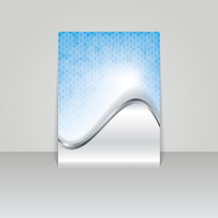 Brochure card banner metal  Vector