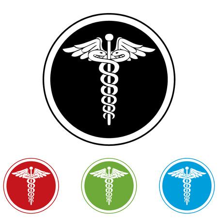 ems: M�dico negro, rojo, verde y azul iconos