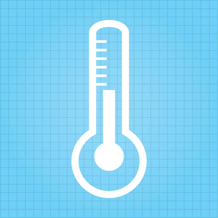 celsius: Medical thermometer web icon  vector