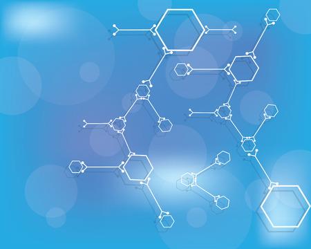 quimica organica: Ilustraci�n vectorial de resumen de antecedentes m�dicos Vectores
