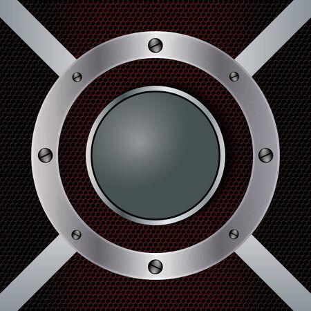 Abstract background, metallic red brochure, vector Vector
