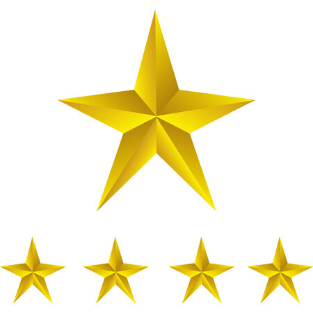 first form: Shiny Gold Stars. Form of first. Illustration for design on white background.vector Illustration