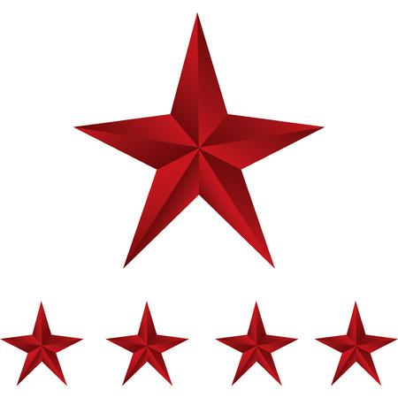 lucero: Brillante Estrellas Roja. Formulario de primera. Ilustraci�n para el dise�o en blanco background.vector