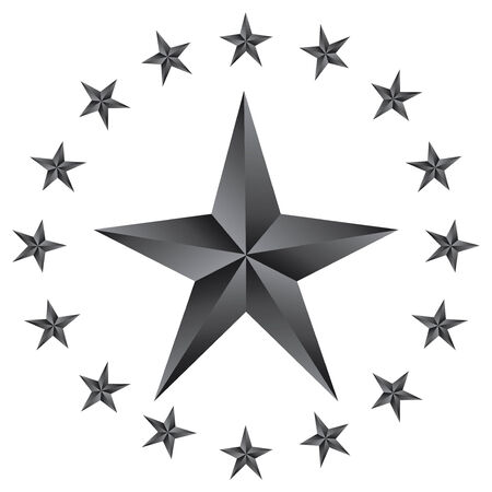 first form: Shiny  Stars. Form of first. Illustration for design on white background.vector Illustration