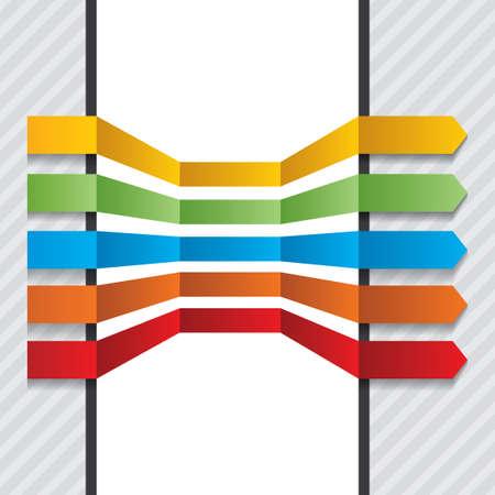 phonographic: Colorful arrows set vector design elements.vector Illustration