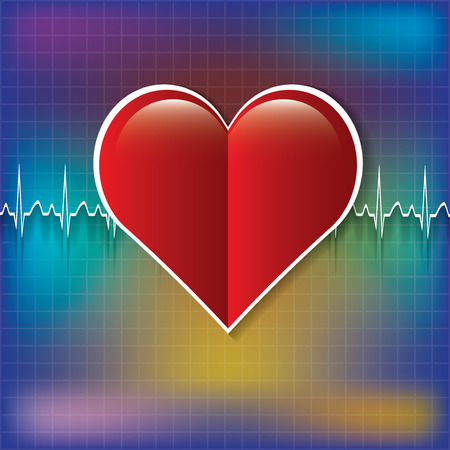 deoxyribose: Red medical heart icon.vector .eps10 Illustration