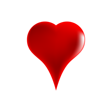 Red heart on white background Illustration