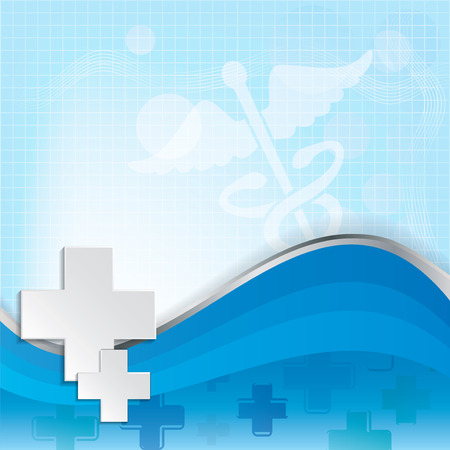 medical symbol: Abstract medical background with caduceus medical symbol Illustration