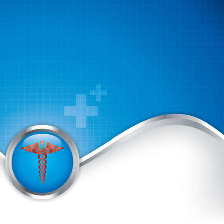 Abstract medical background with caduceus medical symbol Illustration