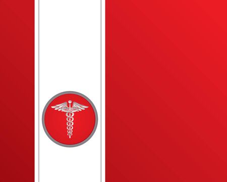 medical symbol: Abstract medical background with caduceus medical symbol.