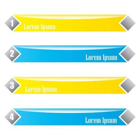 web desig: Modern infographics options banner. Vector illustration.