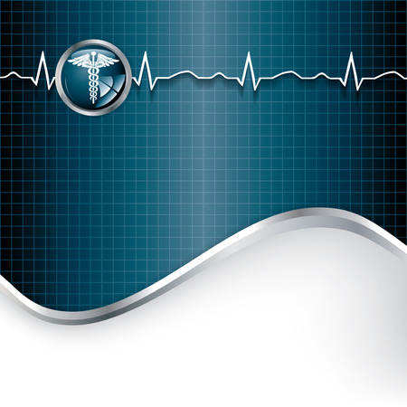 acute: Abstract medical background with medical symbol.