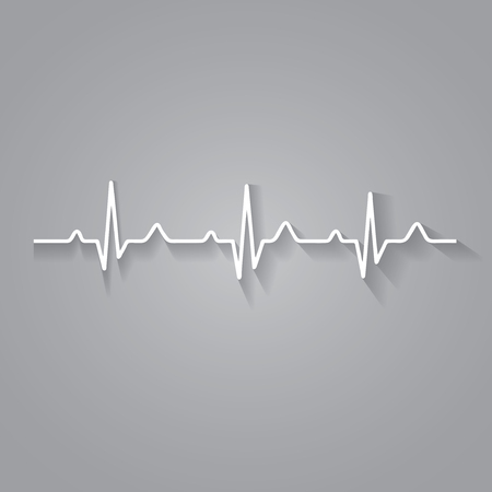 Illustration heart rhythm ekg . Çizim