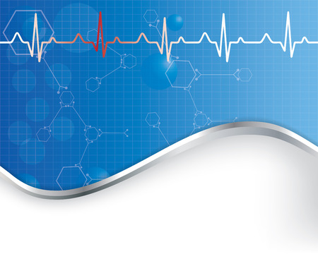 cardiological: Abstract  medical background Illustration