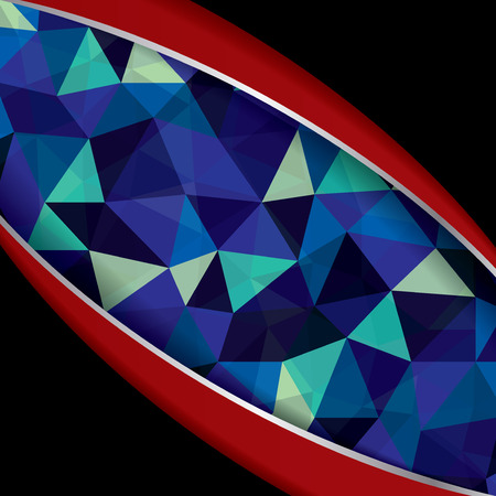 Abstract geometric background of triangular polygons .