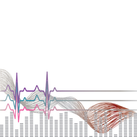 Vector Illustration heart rhythm ekg .vector