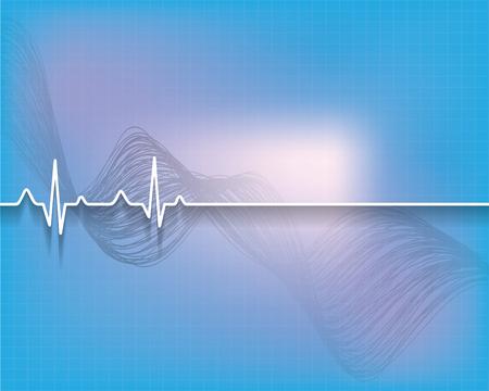 rhythm: Abstract medical background..vector